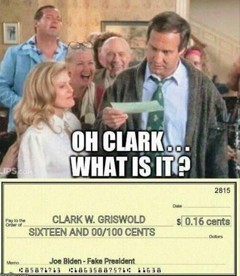 clark w griswold 16 cents check joe biden