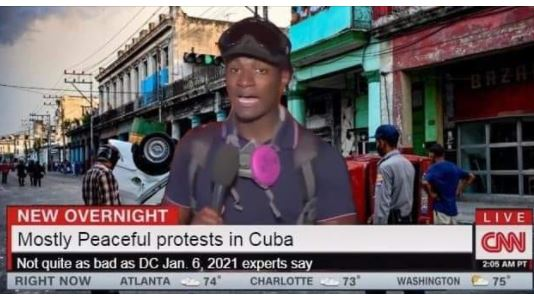 cnn most peaceful cuban protests not as bad as january 6th