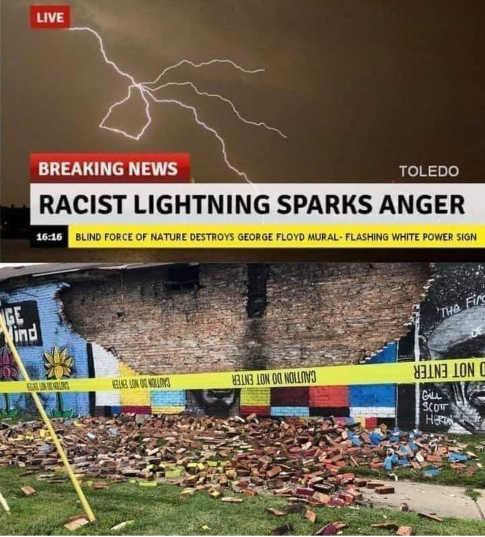 cnn racist lightning george floyd sparks anger