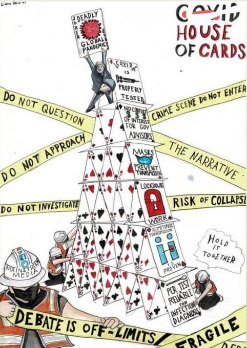 covid house of cards debate off limits narrative do not question