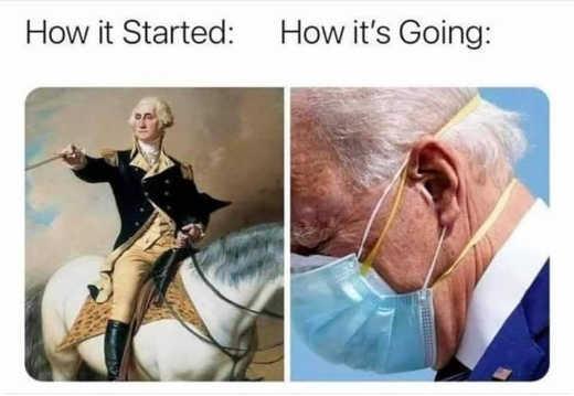 how it started george washington going joe biden mask