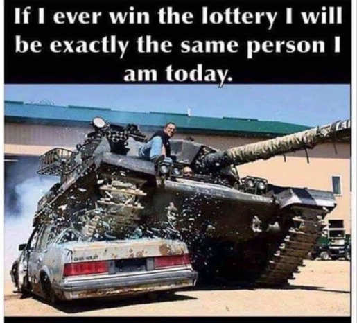 if win lottery same person tank