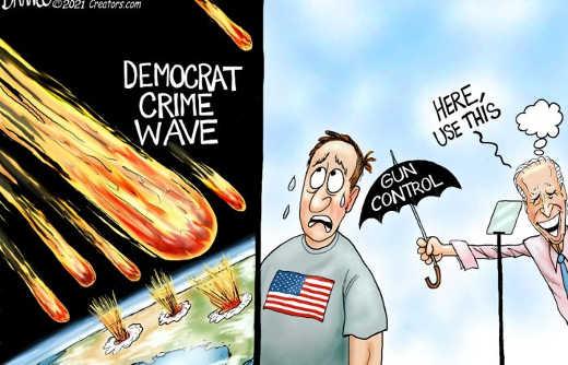 joe biden democrat crime wave here use gun control umbrella