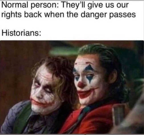 joker normal person give us rights back danger passes historians