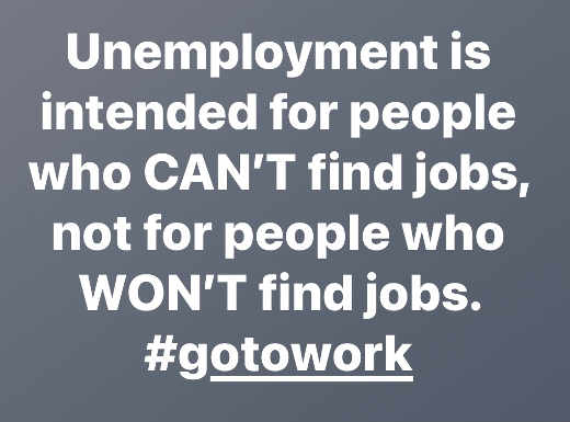message unemployment intended people cant find jobs not wont