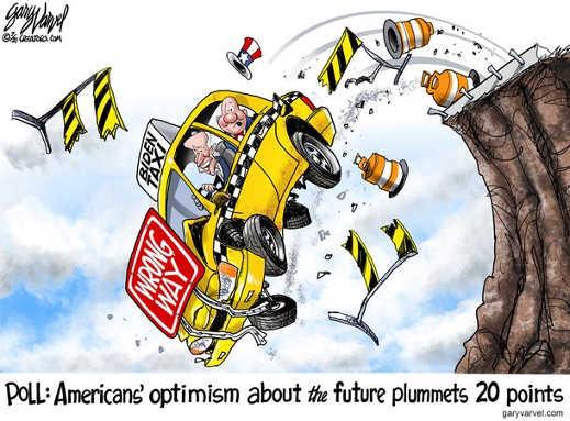 poll americans optimism future plummets 20 points joe biden drive off cliff