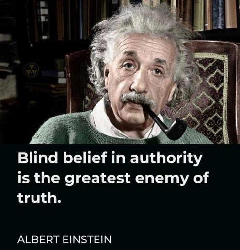 quote blind belief authority greatest enemy truth einstein