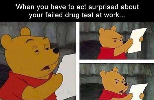 winnie pooh have to look surprised by failed drug test