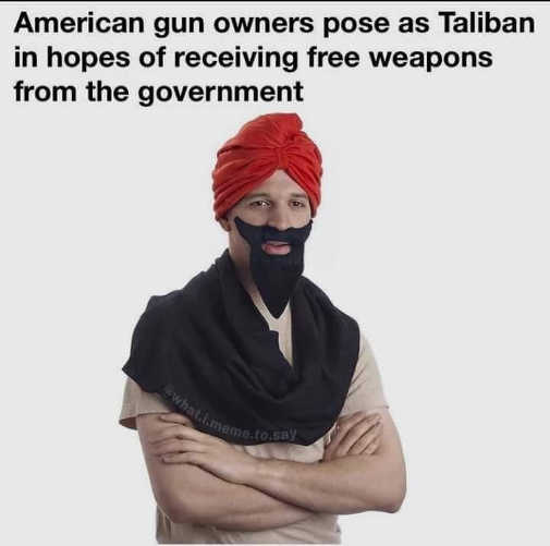 american gun owners pose taliban receive free weapons from government