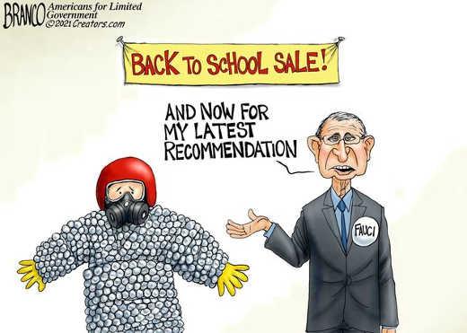 dr fauci back to school sale latest recommendation bubble wrap gas mask helmet