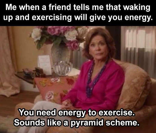 exercising morning gives energy need it to start pyramid scheme