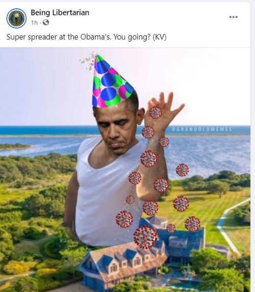 facebook being libertarian super spreader at obamas