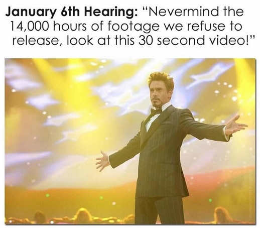january 6th hearing ignore 14000 hours footage see 30 second video