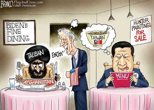 joe biden taliban china fine dining afghanistan taiwan