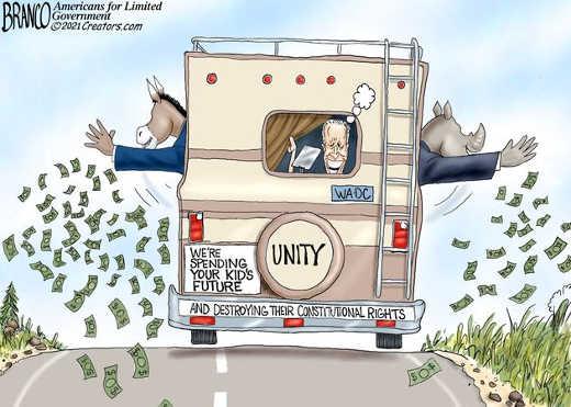 joe biden unity spending kids money destroying constitutional rights democrats