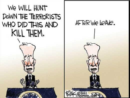 joe biden will hunt down terrorists kill them after we leave