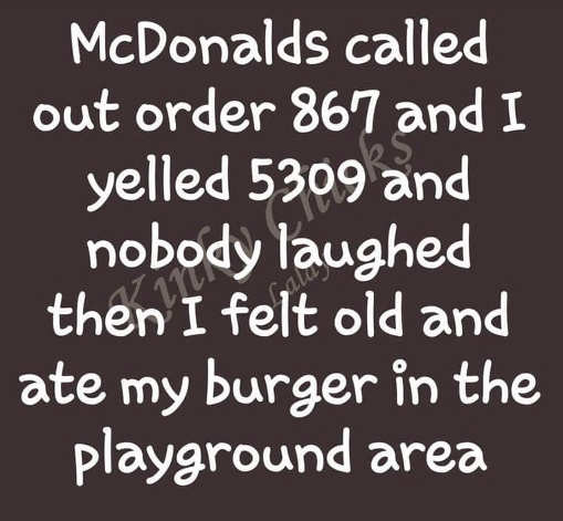 mcdonalds 867 5309 nobody laughed burger play area
