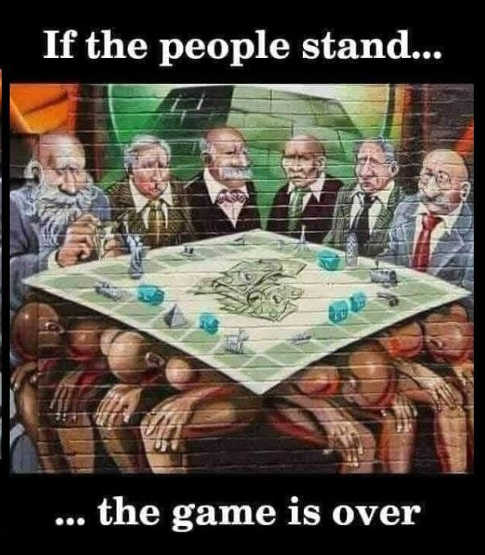 message if people stand ruling class game is over