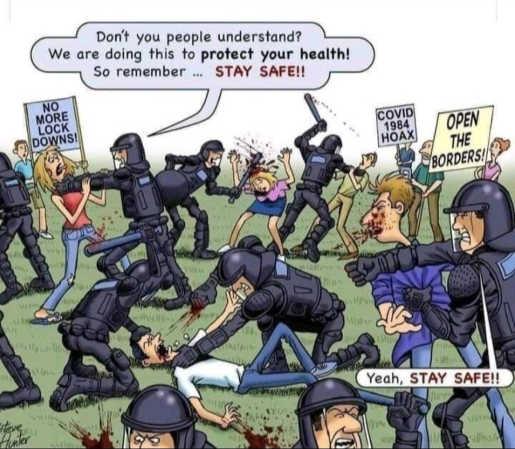police state lockdowns masks protests so you stay safe