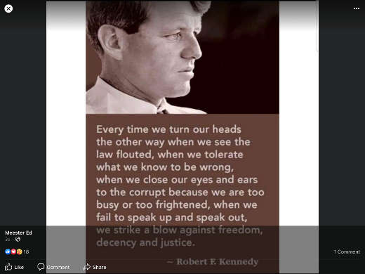 quote rfk every time we turn our heads law flouted