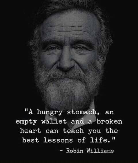 quote robin williams emtpy stomack wallet best teacher