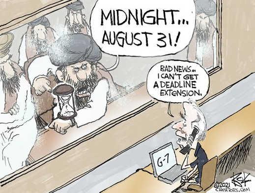 taliban august 31 biden begging for extension