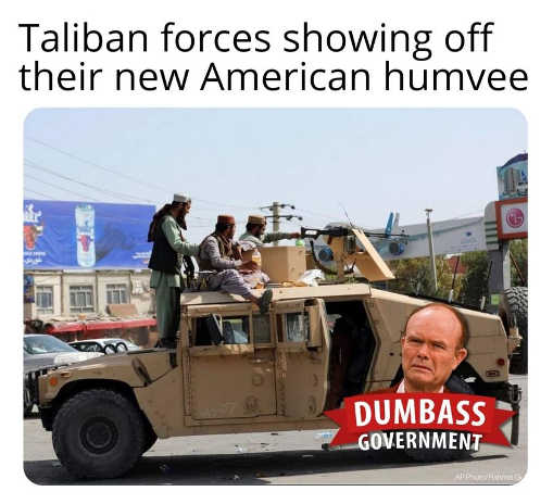 taliban forces showing off new american humvee dumbass government