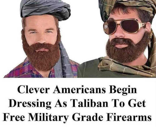 americans dress as taliban to get free military grade firearms