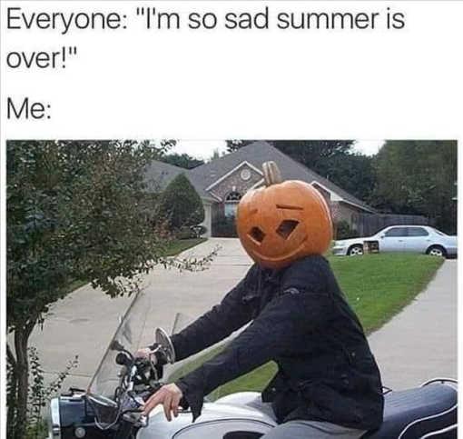 everyone sad summer over me pumpkin head halloween fall