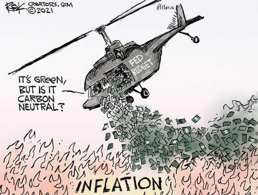 fed budget debt inflation green carbon neutral