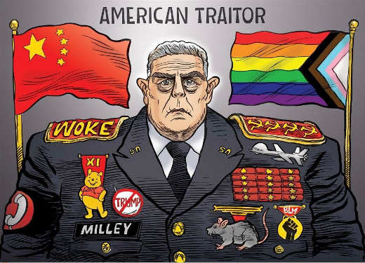 general milley american trailor chinese puppet