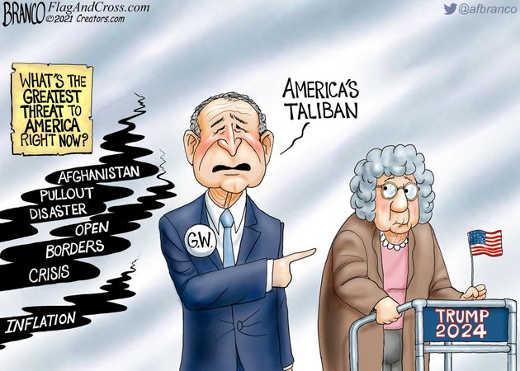 george w bush greatest threat old lady trump american taliban