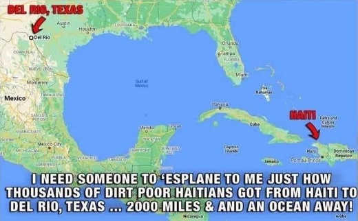how to poor haitians get to del rio texax island