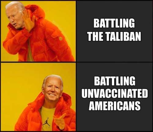 joe biden dre not batting taliban unvaccinated americans