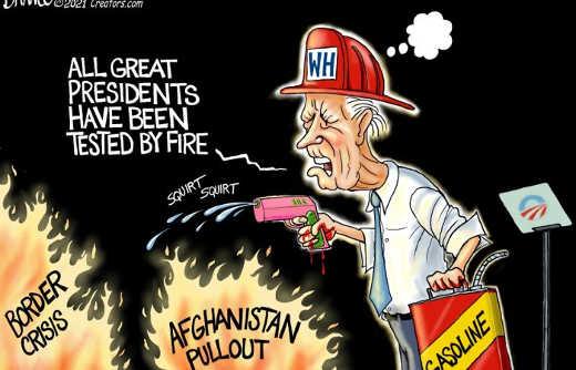 joe biden great presidents tested by fire squirt gun gasoline