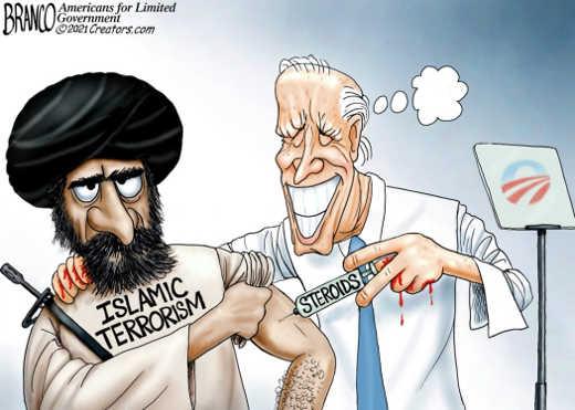 joe biden injecting steroids islamic terrorism