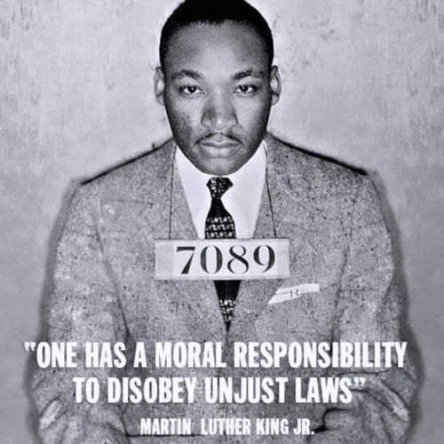 martin luther kind moral responsibility to disobey unjust laws