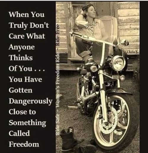 message when truly dont care anyone thinks of you close to freedom ride free
