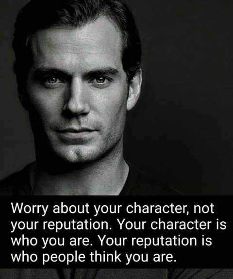 message worry about character not reputation others think