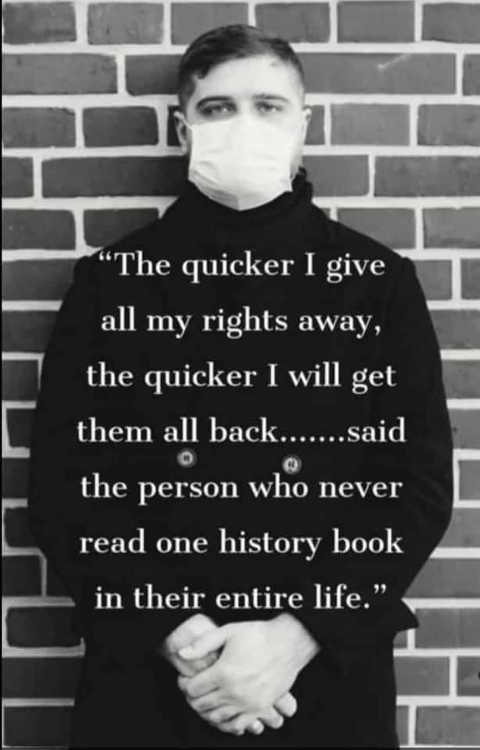quote quicker give rights away get them back never read history book