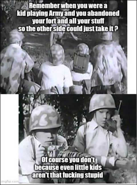 remember kids playing army abandoned weapons even kids not that stupid