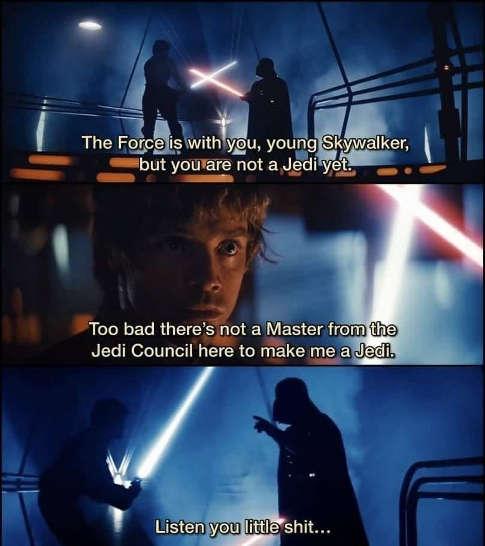 star wars force strong skywalker not jedi master council