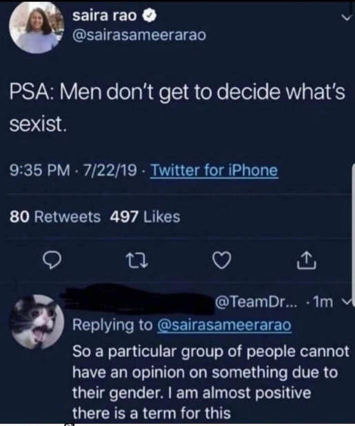 tweet psa men cant decide sexist term applied to gender