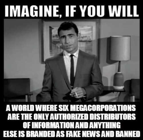 twilight zone imagine 6 megacorps authorized directributors info else branded fake news banned