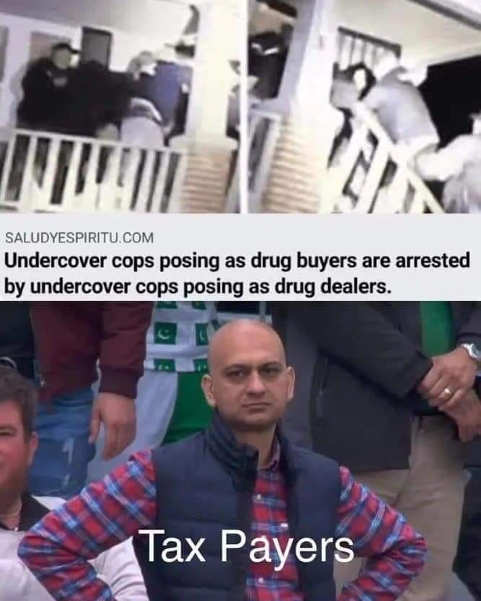 undercover cops arrest dealers posing as police taxpayers