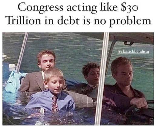 congress acting like 30 trillion debt no problem boat sinking