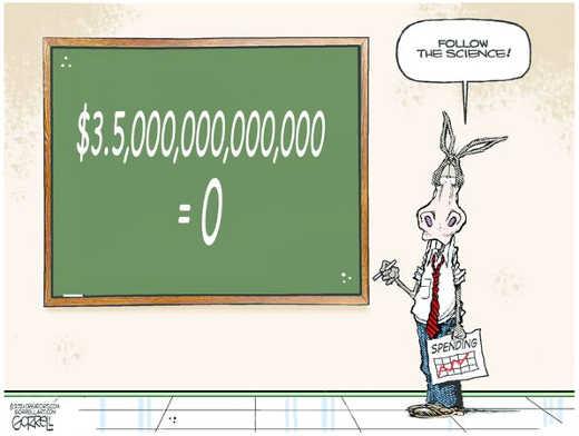 democrats follow the science 3.5 trillion equals 0