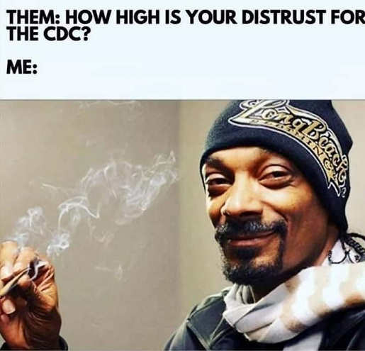 how high is distrust for cdc snoop dog pot