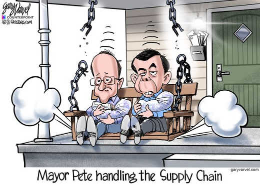 mayor pete handling supply chain paternity