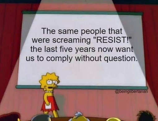 message same people resist 5 years comply without question